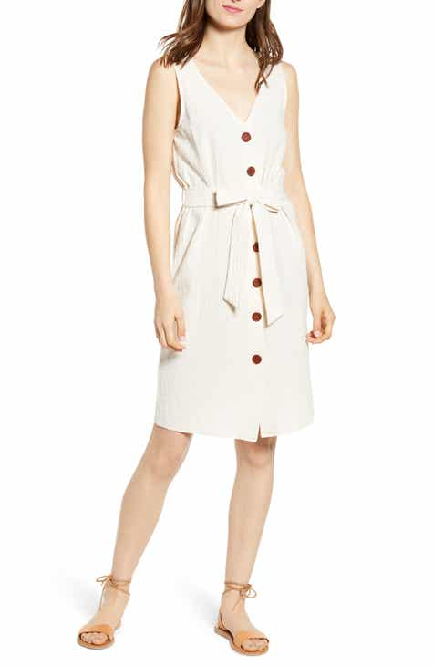 7da75e63fd9 One Clothing Belted Button Front Dress