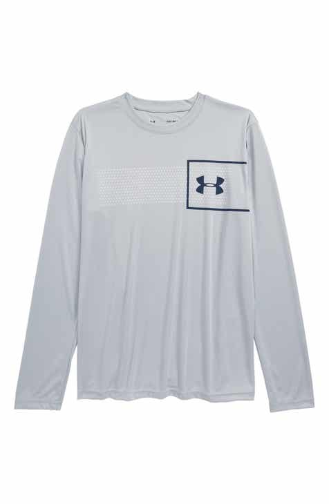 5bfc247fc7ab Under Armour Logo HeatGear® T-Shirt (Big Boys)