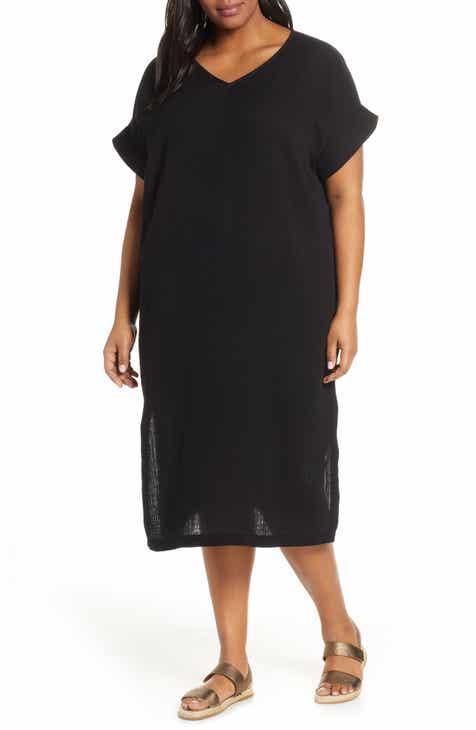 2259441bb2 Eileen Fisher Organic Cotton Midi Dress (Plus Size)