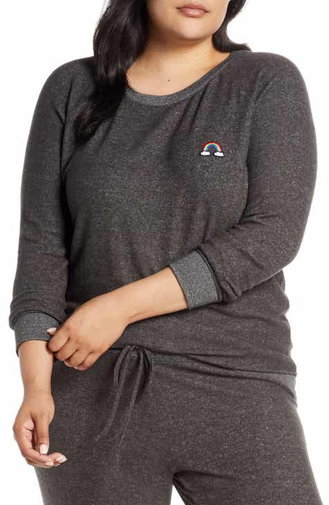 Make + Model Cozy Crew Lounge Sweater (Plus Size) by MAKE AND MODEL