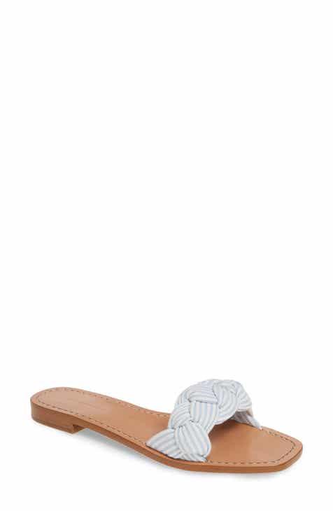 8d146947e2ed Something Navy Rose Braid Slide Sandal (Women) (Nordstrom Exclusive)