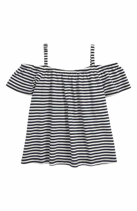 4a21f35fdec7b Tea Collection Stripe Cold Shoulder Top (Toddler Girls