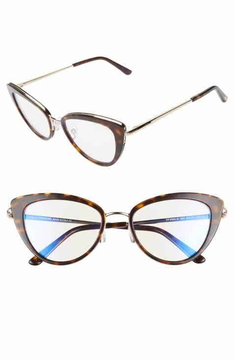 bcb21f4498 Tom Ford 53mm Cat Eye Blue Light Blocking Glasses
