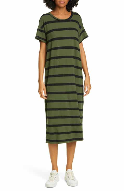 THE GREAT. The Boxy Midi T-Shirt Dress