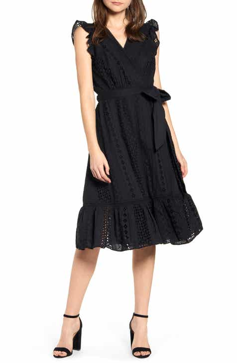 873ba7c711c J.Crew All Over Eyelet Wrap Midi Dress (Regular   Petite)
