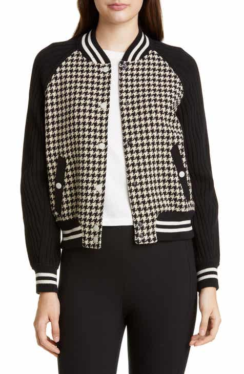 09b2e9aa908 rag & bone Courtney Houndstooth Bomber Jacket