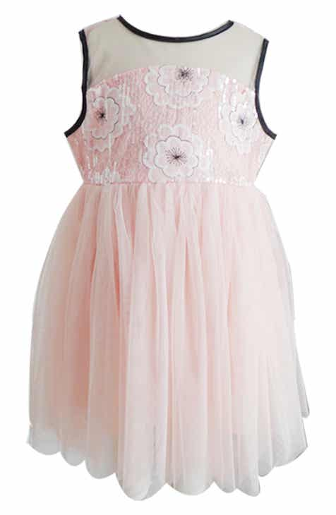 b2537a222de6a Popatu Sequin Floral Tulle Dress (Toddler Girls, Little Girls & Big Girls)