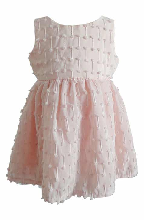 4ccac4229337e Popatu Pompom Plumetis Dress (Toddler Girls, Little Girls & Big Girls)