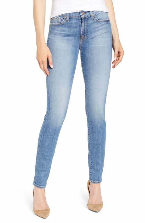 d9c002ab9f3d1a 7 For All Mankind® Super Skinny Jeans (Light Sky)