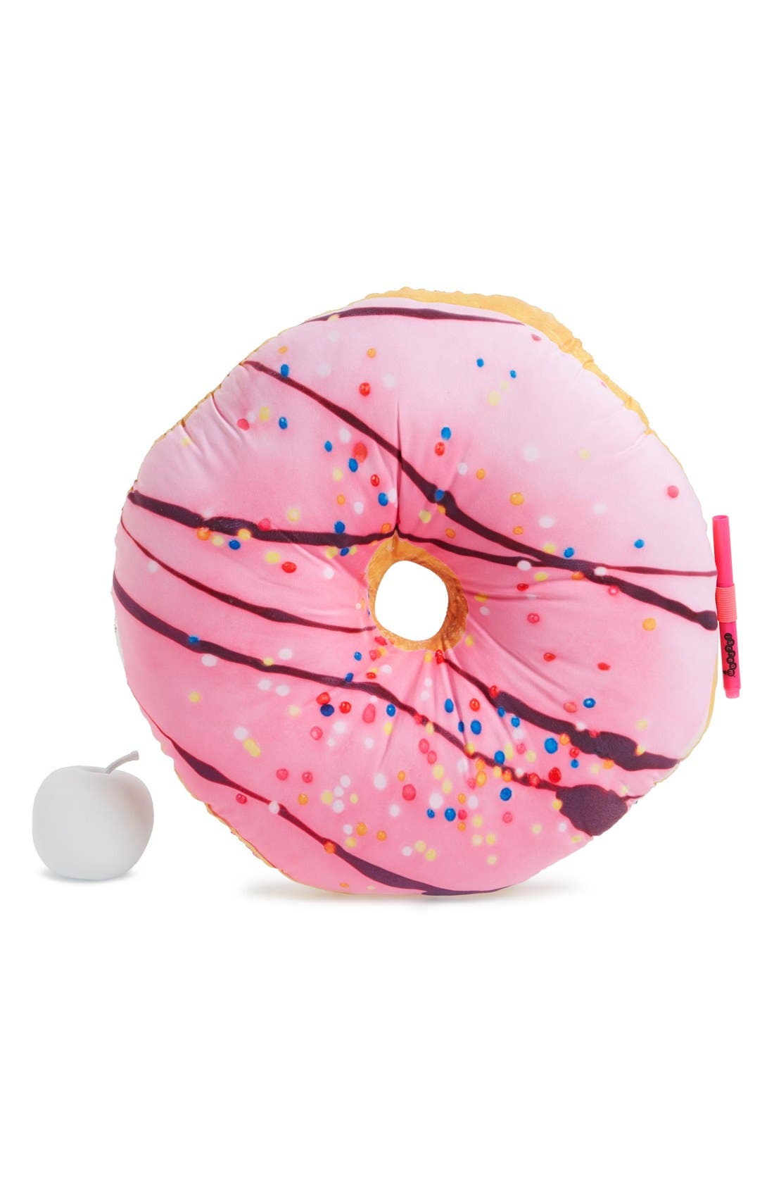 Main Image - Iscream Rainbow Sprinkles Donut Scented Autograph Pillow