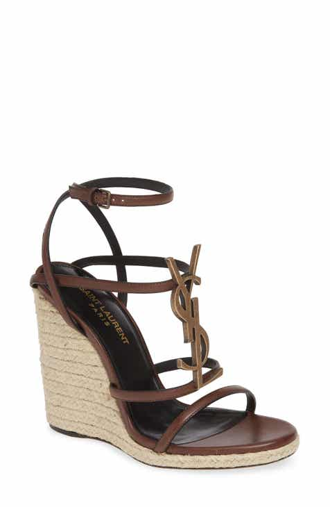 43a8d3f2761 Saint Laurent Cassandra YSL Logo Wedge Sandal (Women)