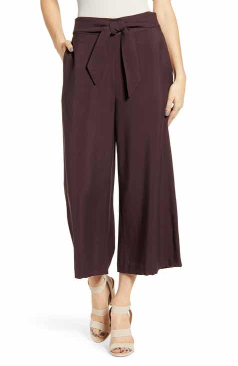 b717d2e20 Leith Tie Front High Rise Wide Leg Crop Pants (Regular & Plus Size)