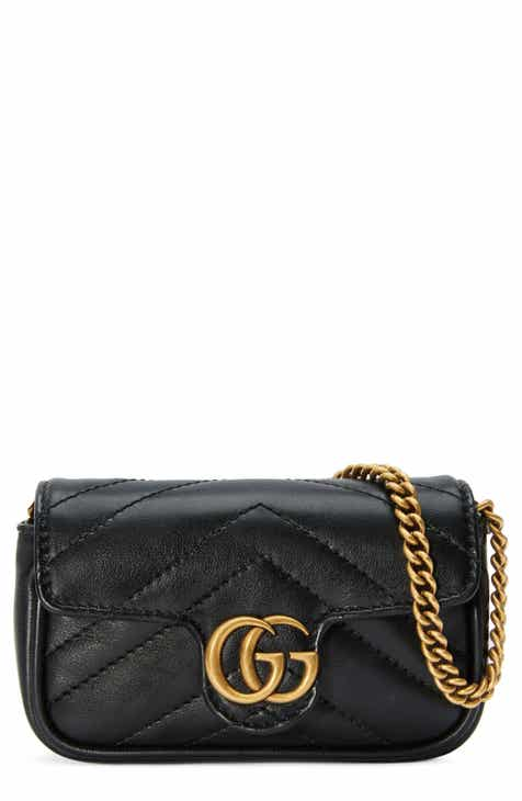 1f3b2bf7014 Gucci GG Marmont 2.0 Quilted Leather Coin Purse on a Chain