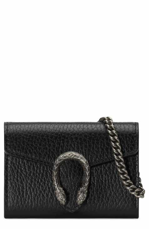 b8a84a6d3de Gucci Dionysus Calfskin Leather Coin Purse on a Chain