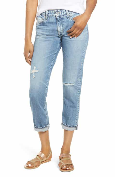 ca191926dc AG The Ex-Boyfriend Ripped Ankle Slim Jeans (20 Years Haste Destructed)