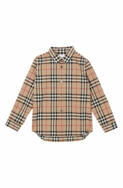 2b0267eaa Burberry Fredrick Plaid Woven Shirt (Toddler Boys, Little Boys & Big Boys)