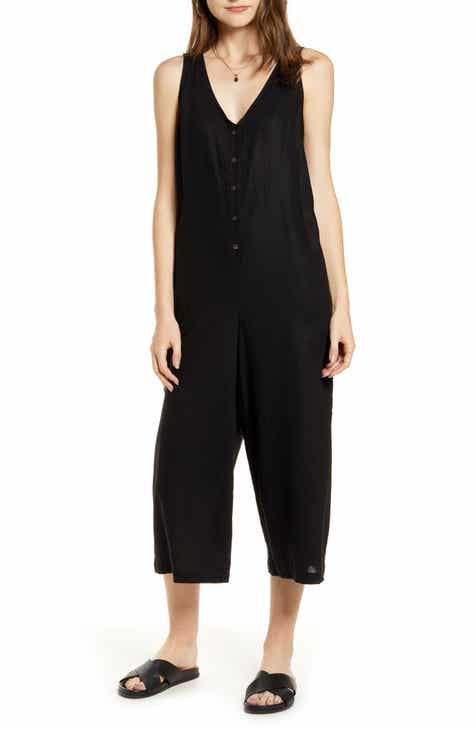 Treasure & Bond Button Front Jumpsuit by TREASURE AND BOND
