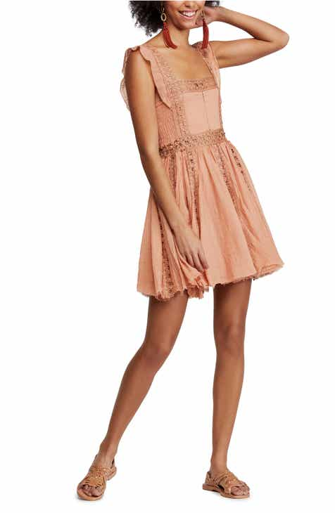 e5c99a662b Free People Verona Lace Trim Minidress