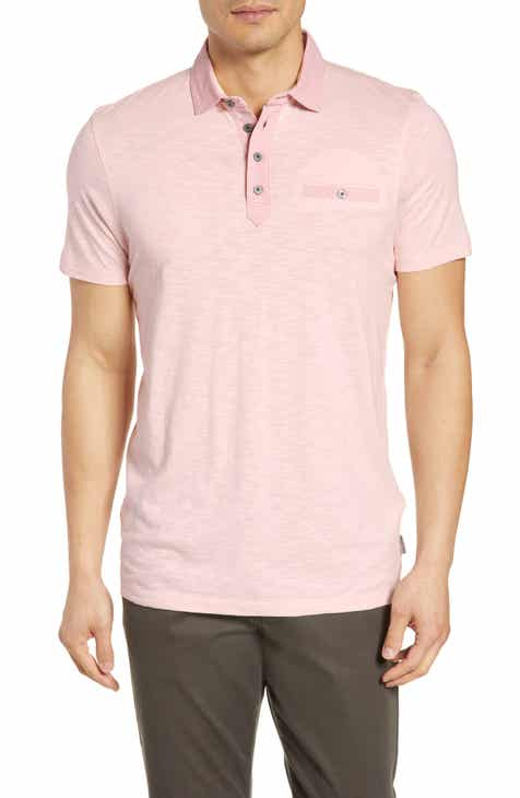 9f79e3617 Ted Baker London Geo Collar Slim Fit Solid Polo