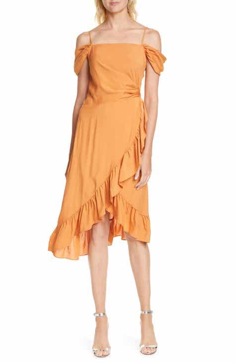 7234e0fb8de7 maje Routila Cold Shoulder Asymmetrical Dress