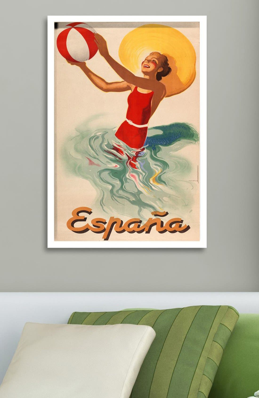 Alternate Image 2  - Oliver Gal 'Espana Playa 1920s' Framed Art Print