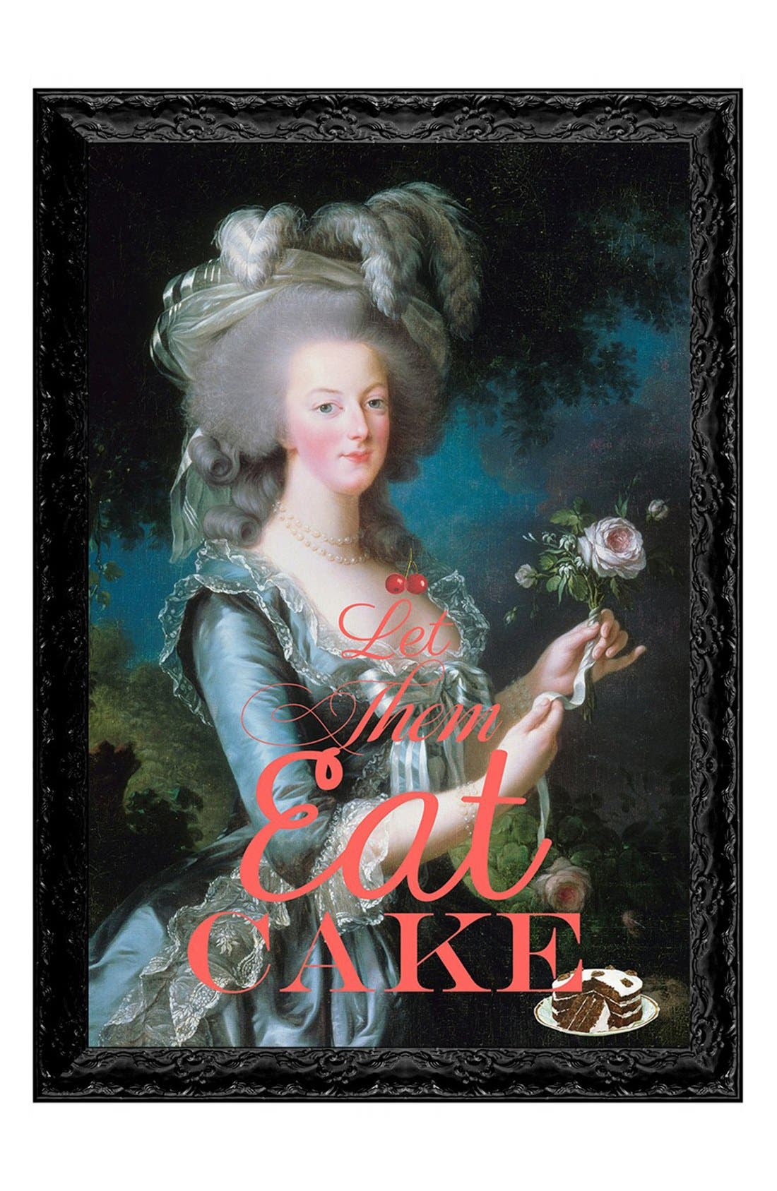 'Let Them Eat Cake' Framed Art Print,                             Main thumbnail 1, color,                             Black