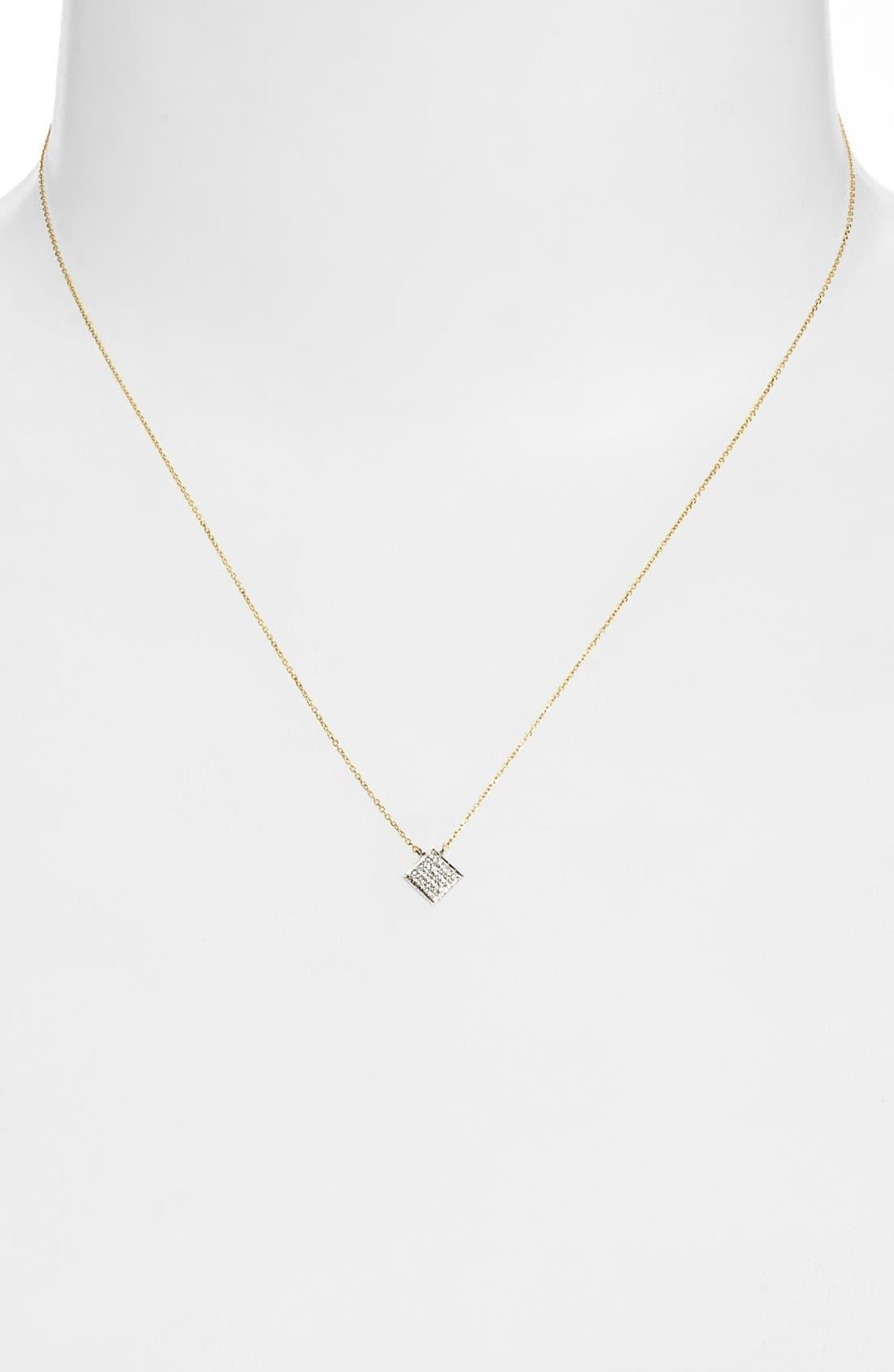 Alternate Image 2  - Dana Rebecca Designs 'Lisa Michelle' Diamond Pavé Square Pendant Necklace (Nordstrom Exclusive)