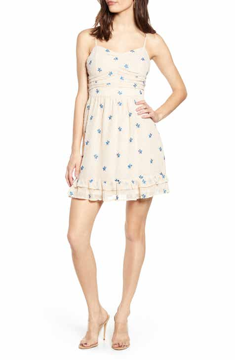 58133507ac34 Endless Rose Embroidered Clip Dot Chiffon Minidress