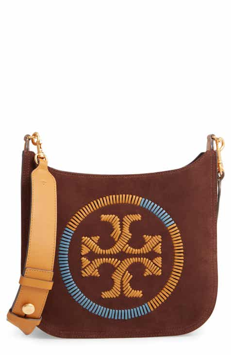 8c4513764 Tory Burch Ella Whipstitched Logo Leather Crossbody Bag