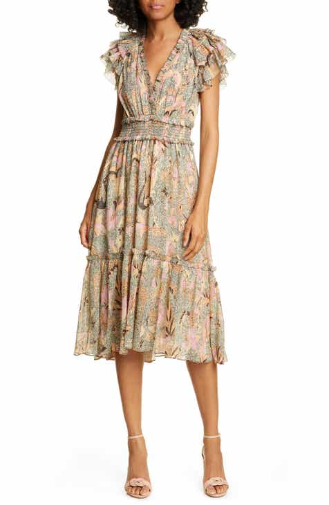 9227b0fcc4bd Ulla Johnson Cicely Silk Blend High/Low Dress