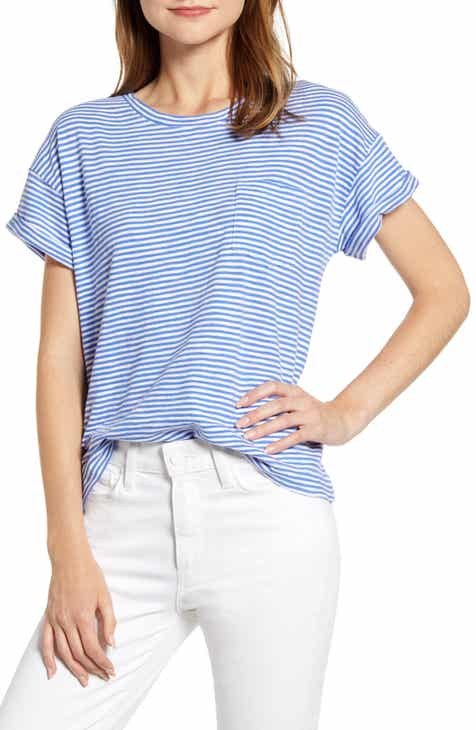 0df75c23d vineyard vines Striped Boxy Pocket Tee
