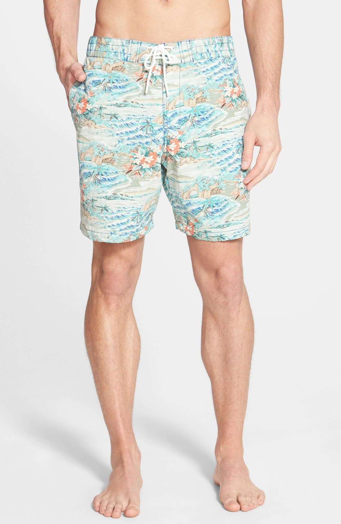 'Black Sands' Board Shorts,                         Main,                         color, Ocean