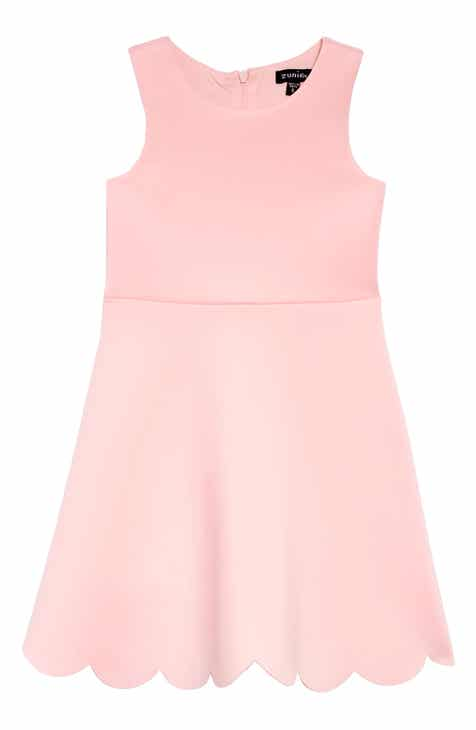 f2f129cff2 Zunie Scallop Hem Scuba Dress (Toddler Girls, Little Girls & Big Girls)