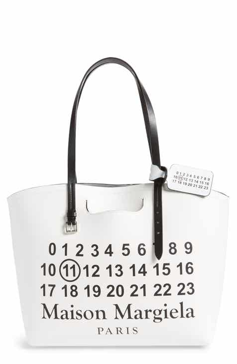 06c2522dcd4e9 Maison Margiela Logo Leather Shopping Tote with Pouch