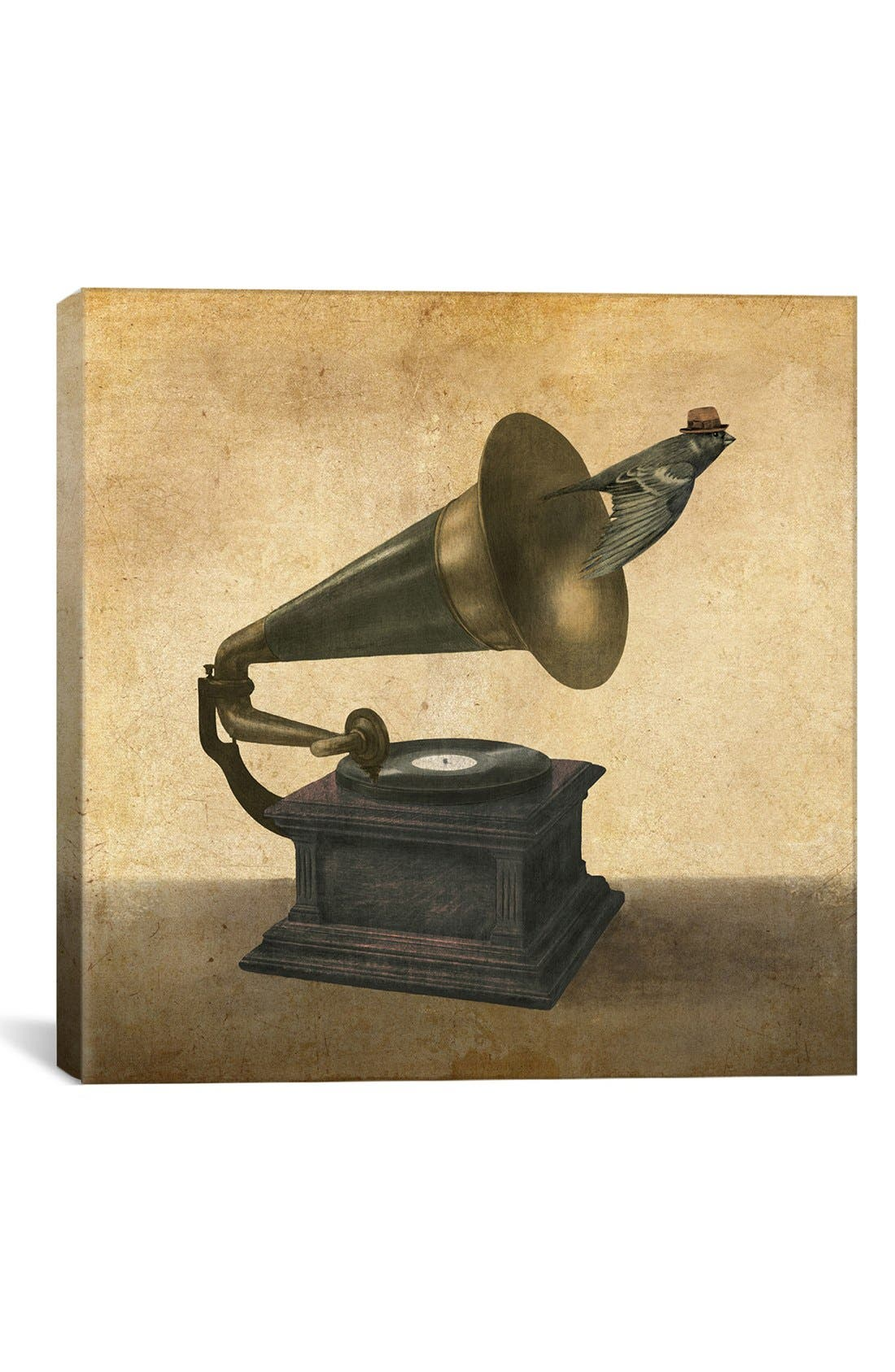 'Vintage Songbird - Terry Fan' Giclée Print Canvas Art,                         Main,                         color, Brown