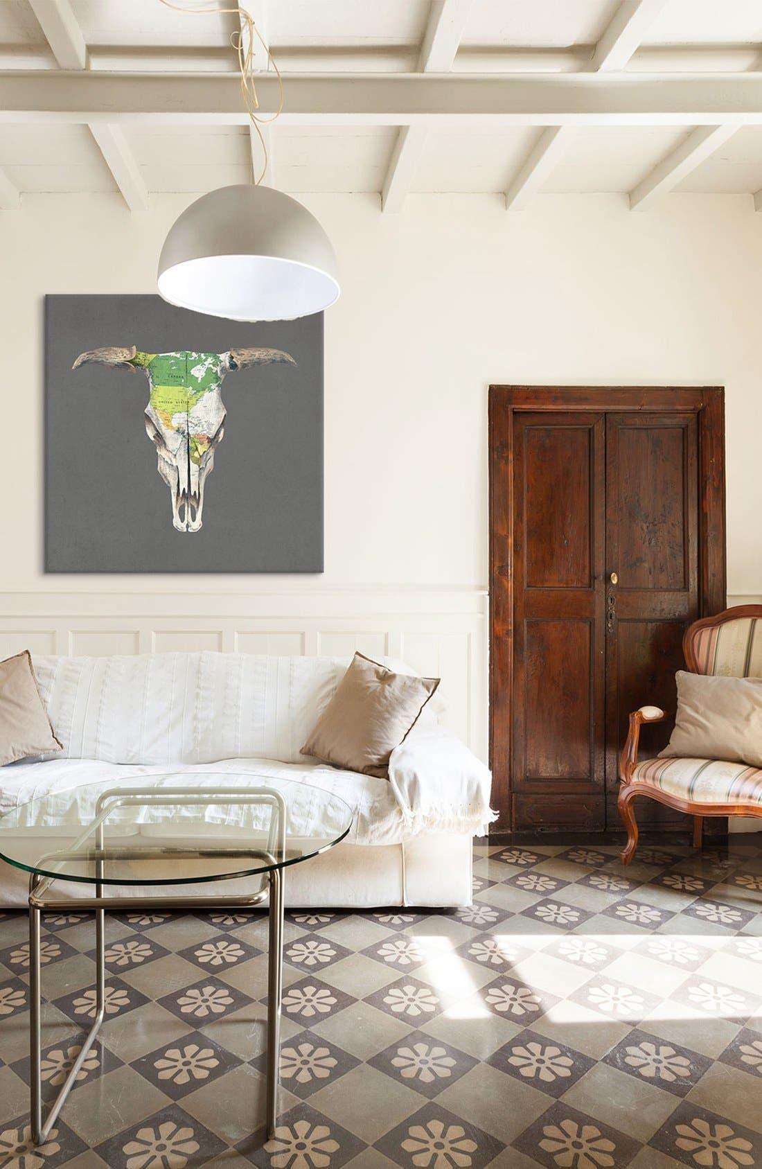 Alternate Image 2  - iCanvas 'Go West - Terry Fan' Giclée Print Canvas Art