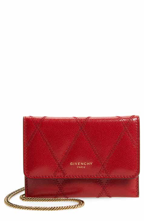 b81d08de6 Givenchy Quilted Goatskin Leather Card Case on a Chain
