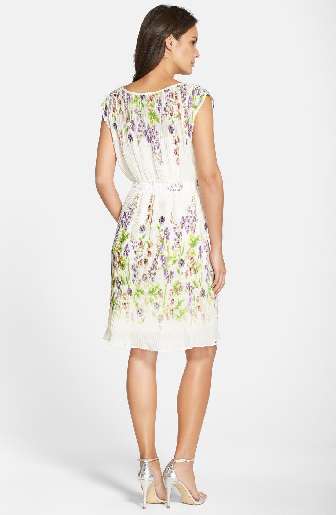 Alternate Image 2  - Gabby Skye Floral Print Chiffon Pleated Dress