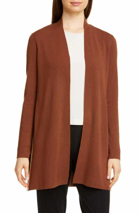 Free Shipping Eileen Fisher Merino Straight Long Cardigan (Regular & Petite)