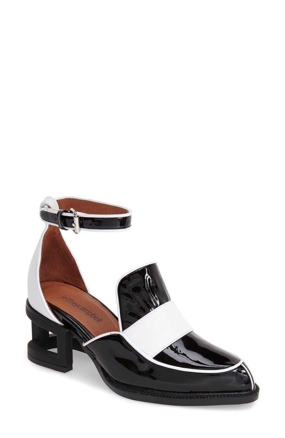 Jeffrey Campbell 'Walden' Ankle Strap Loafer (Women ...