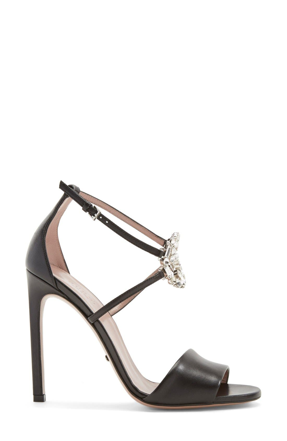 Alternate Image 4  - Gucci 'GG' Logo Ankle Strap Sandal (Women)
