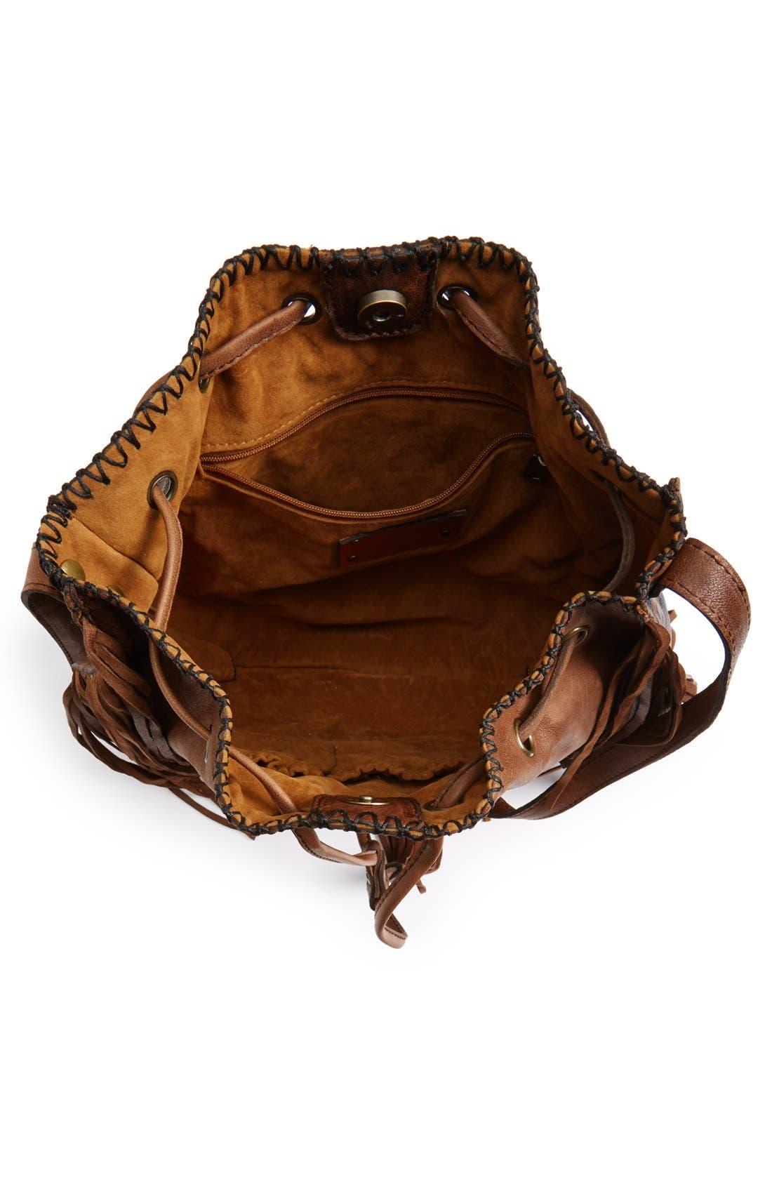Alternate Image 4  - Patricia Nash 'Carrara' Drawstring Leather Crossbody Bag