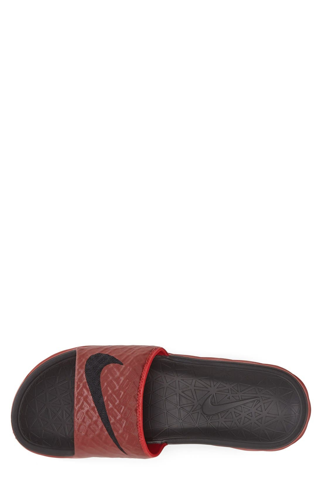 'Benassi Solarsoft 2' Slide Sandal,                             Alternate thumbnail 3, color,                             University Red/ Black