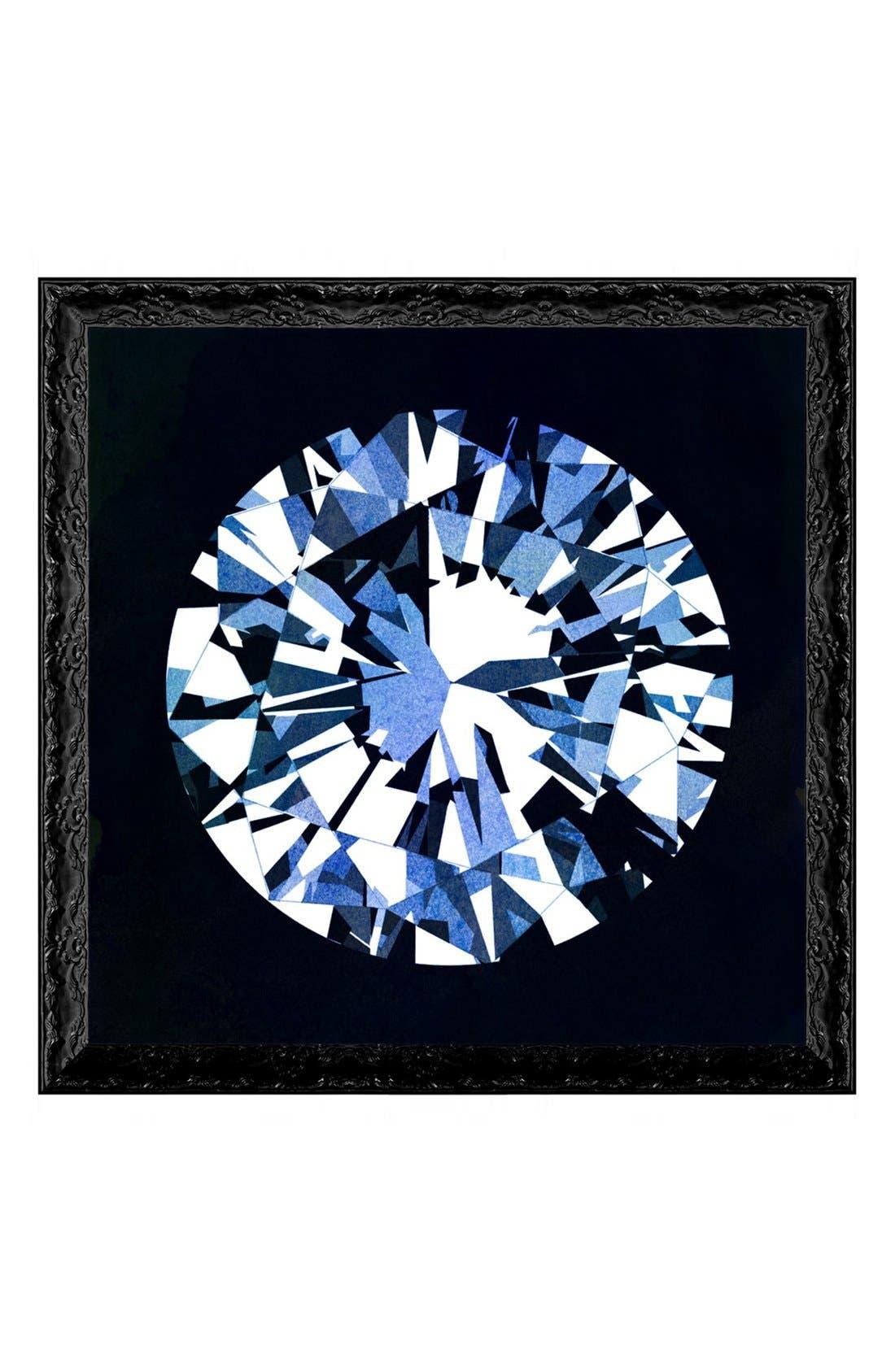 'Diamonds Are Forever' Framed Art Print,                             Main thumbnail 1, color,                             Black
