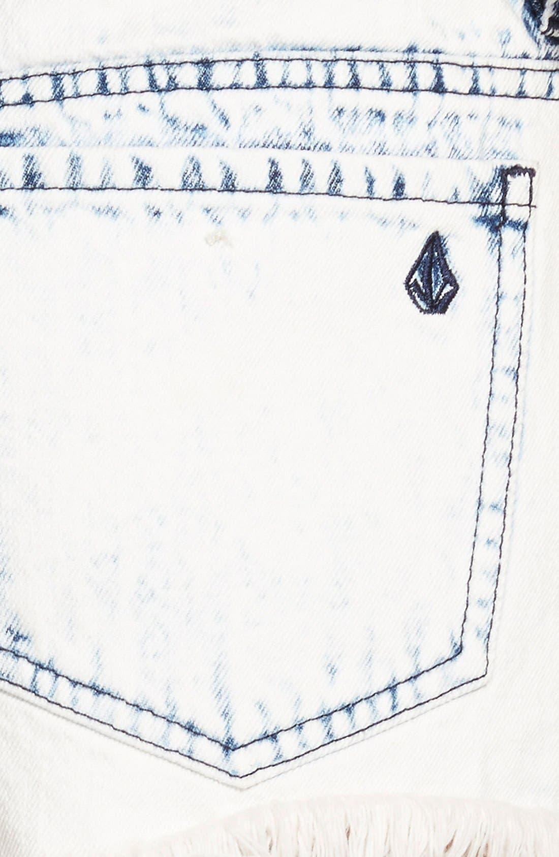 Alternate Image 3  - Volcom 'Yae' Cutoff Denim Shorts