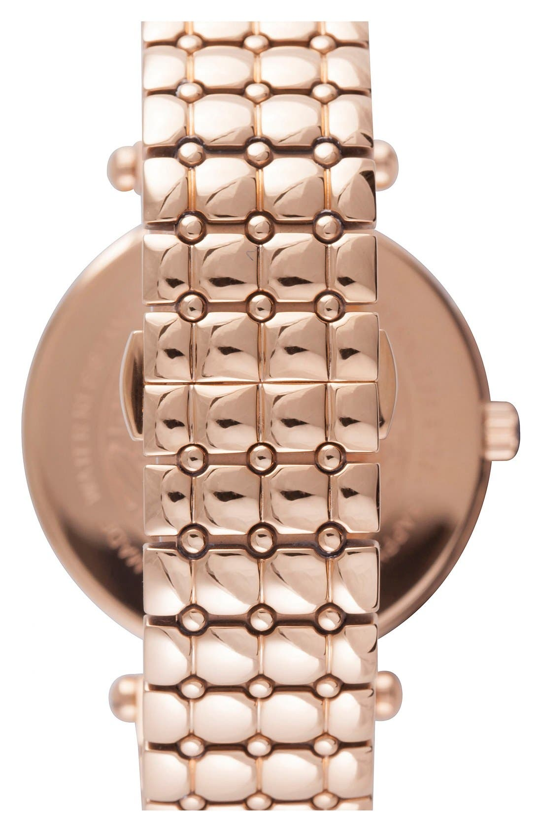 Alternate Image 2  - Versace 'Vanitas' Quilted Bracelet Watch, 40mm