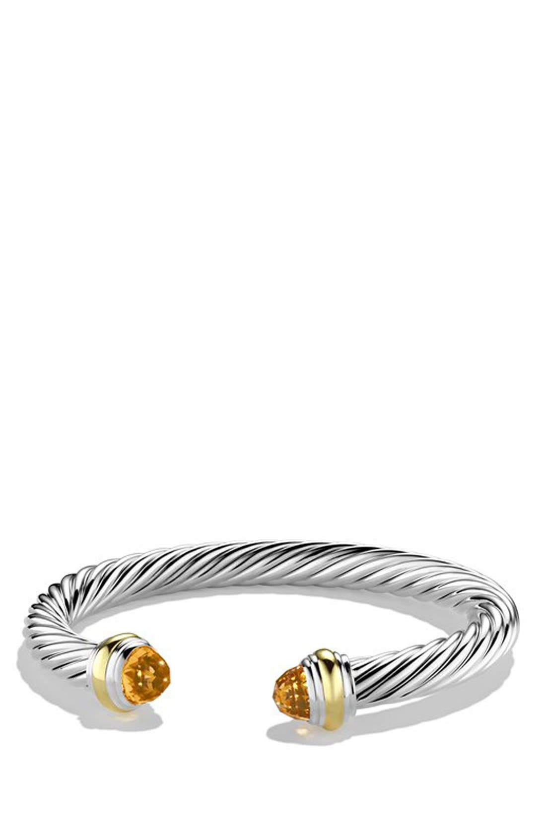 David Yurman Cable Classics 7mm Bracelet with 14K Gold