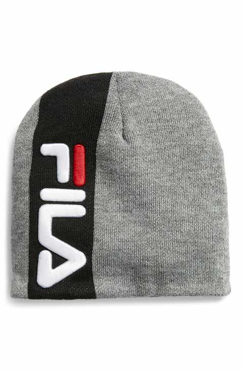 FILA Embroidered Logo Stripe Beanie
