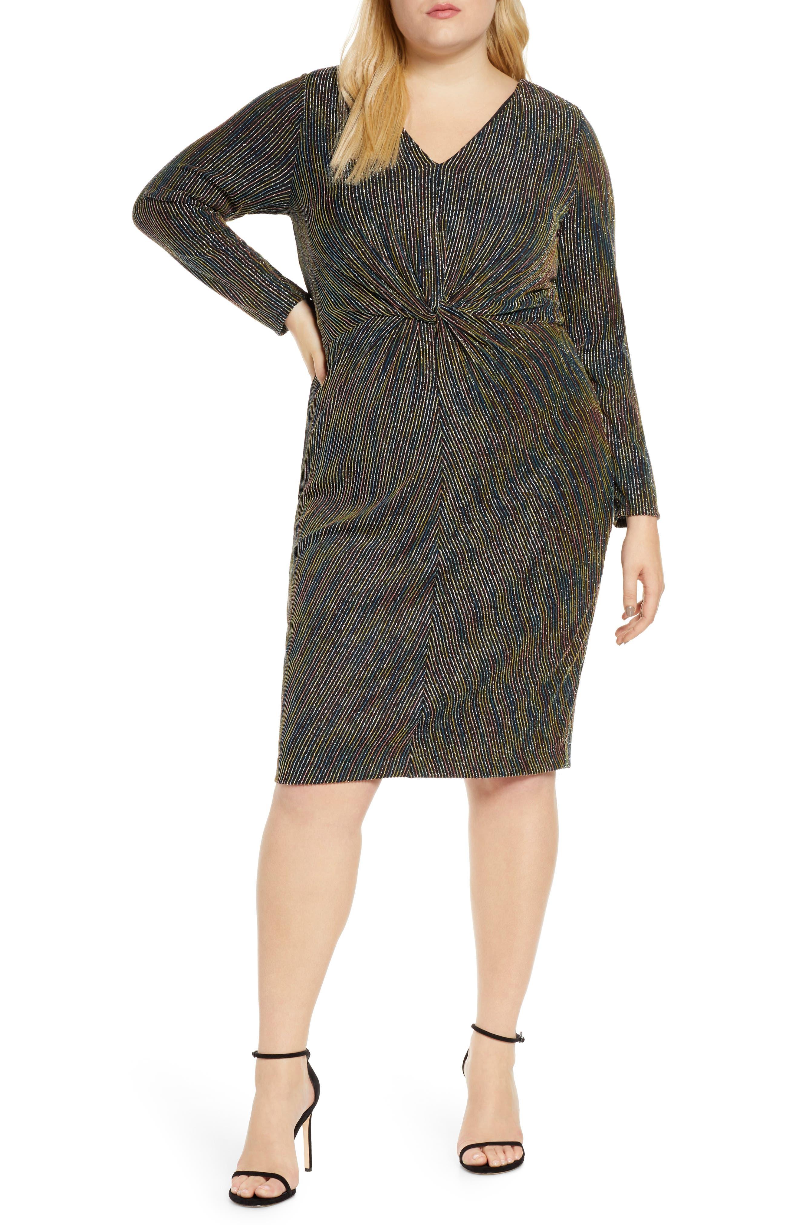 Rachel Roy Womens Plus Size Elle Dress Cocktail Dress