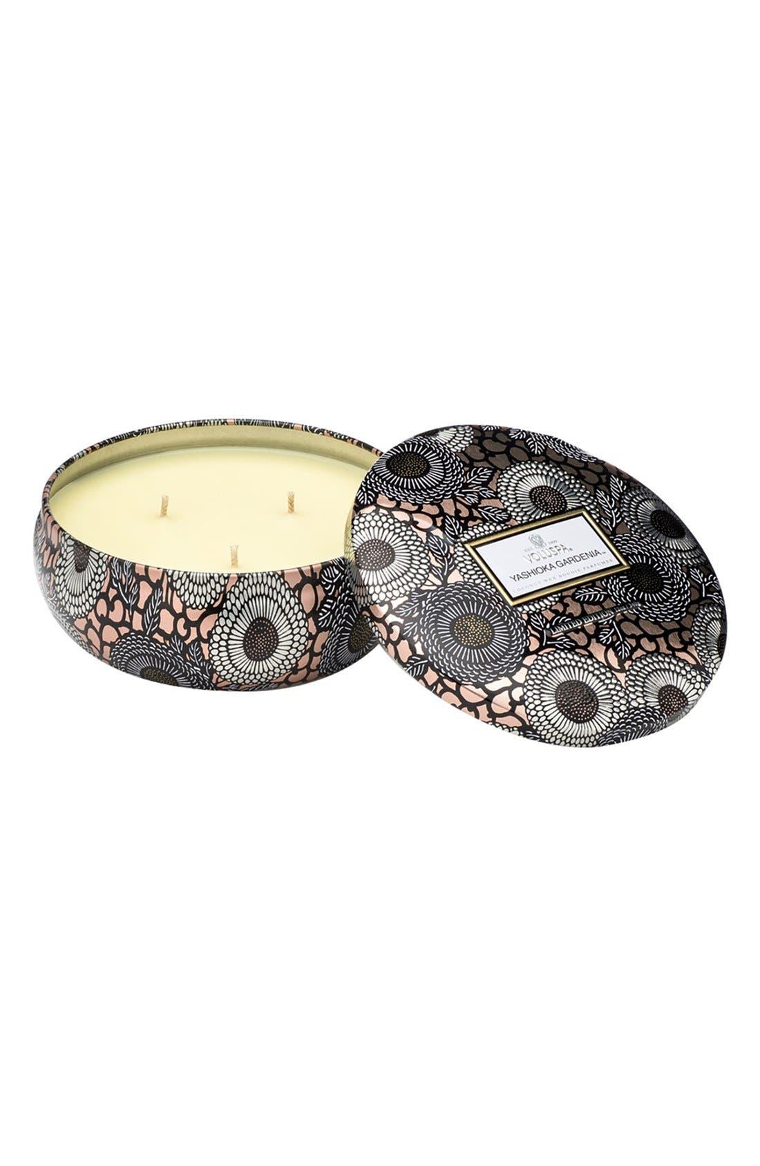 Main Image - Voluspa 'Japonica - Yashioka Gardenia' Three-Wick Maison Metallo Candle (Limited Edition)
